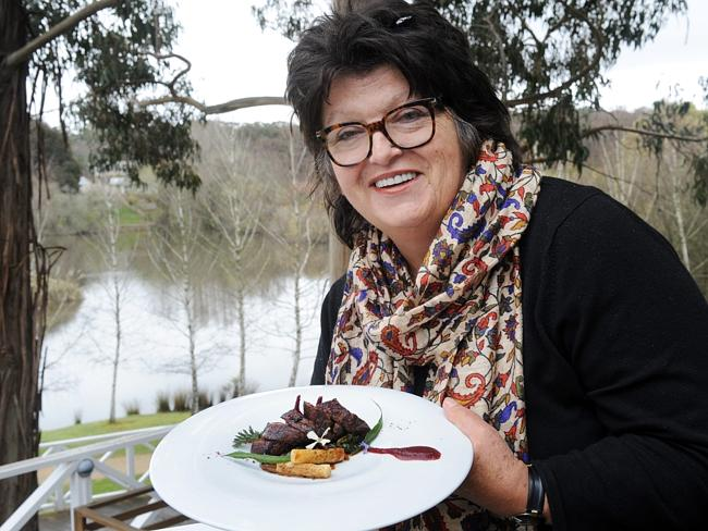 Alla Wolf-Tasker who owns and runs Lake House Restaurant, Daylesford.