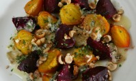 Roast Beetroot with Hazelnuts and Gorgonzola